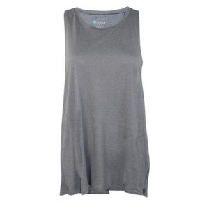 Split Back Gray Workout Tank NWT